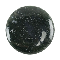 Natural Green Moss Agate Gemstone - Cabochon Freeform 26mm x 46mm Pkg - 1