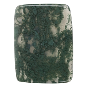 Natural Green Moss Agate Gemstone - Cabochon Freeform 18mm x 20mm Pkg - 1