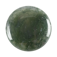 Natural Green Moss Agate Gemstone - Cabochon Freeform 31mm x 49mm Pkg - 1