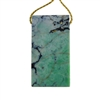 African Chrysoprase Gemstone - Rectangle Pendant 22mm x 40mm - Pak of 1