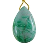 African Chrysoprase Gemstone - Pear Pendant 25mm x 39mm - Pak of 1