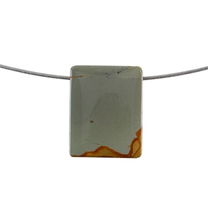 Cripple Creek Jasper Gemstone - Rectangle Pendant 24mm x 31mm Pkg - 1