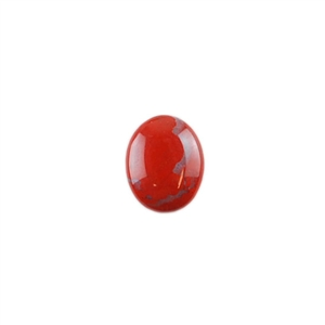 Natural Red Jasper Gemstone - Cabochon Oval 8x10mm - Pak of 1