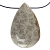 Fossil Coral Gemstone - Oval Cabochon 18mm x 36mm - Pak of 1