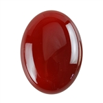 Natural Carnelian Gemstone - Cabochon Oval 22x30mm - Pak of 1