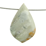 Picasso Marble Gemstone - Funky Drop Pendant 25mm x 43mm Pkg - 1