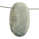 Picasso Marble Gemstone - Oval Pendant 24mm x 44mm Pkg - 1