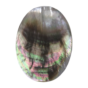 Natural Black Lip Shell Gemstone - Cabochon Oval 8x10mm - Pak of 1