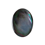 Natural Black Lip Shell Gemstone - Cabochon Oval 30x40mm - Pak of 1