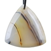 Botswana Agate Gemstone - Triangle Pendant 36mm x 38mm - Pak of 1