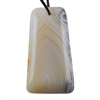 Botswana Agate Gemstone - Tapered Rectangle Pendant 28mm x 52mm - Pak of 1