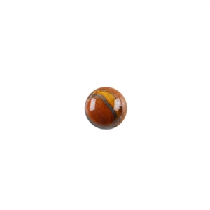 Natural Tiger Iron Gemstone - Cabochon Round 8mm