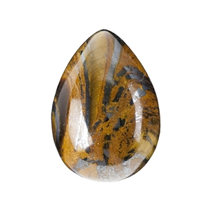 Natural Tiger Iron Gemstone - Cabochon Pear 13x18mm