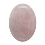Natural Rose Quartz Gemstone - Cabochon Oval 22x30mm - Pak of 1