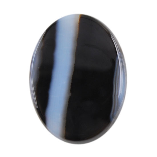 black white onyx gemstone cabochon oval 12mm x