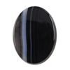 Natural Black & White Onyx Gemstone - Cabochon Oval 12mm x 46mm Pkg - 1