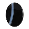 Natural Black & White Onyx Gemstone - Cabochon Oval 12mm x 16mm Pkg - 1