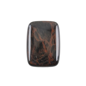 Natural Obsidian Mahogany Gemstone - Cabochon Rectangle 18x25mm - Pak of 1