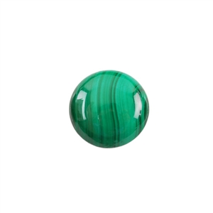Natural Malachite Gemstone - Cabochon Round 16mm
