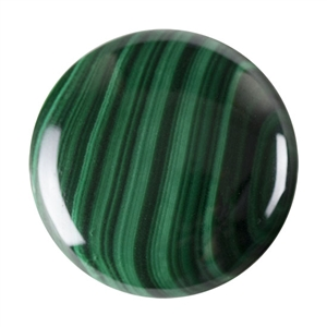 Natural Malachite Gemstone - Cabochon Round 30mm