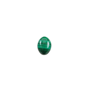 Natural Malachite Gemstone - Cabochon Oval 6x8mm