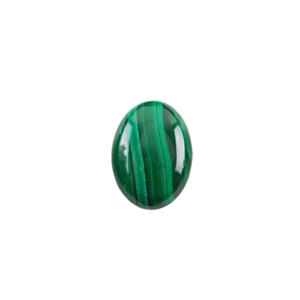Natural Malachite Gemstone - Cabochon Oval 10x14mm