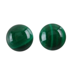 Natural Malachite Gemstone - Cabochon Round 6mm