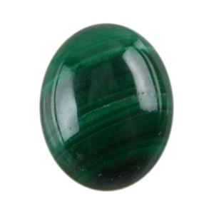 Malachite Gemstone - Cabochon Oval 8mm x 10mm Pkg - 1