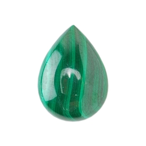 Malachite Gemstone - Cabochon Pear 10mm x 14mm Pkg - 1