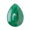 Natural Malachite Gemstone - Cabochon Pear 18x25mm