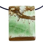 Variscite Nevada Opal Gemstone - Pear Pendant 24mm x 47mm Pkg - 1