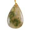 Natural Ocean Chalcedony Gemstone - Pear Pendant 29mm x 45mm - Pak of 1