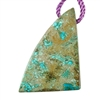 Shattuckite Gemstone - Triangle Pendant 28mm x 47mm - Pkg of 1