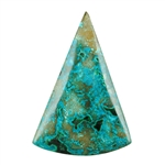 Shattuckite Gemstone - Rounded Triangle Cabochon 39mm x 56mm - Pkg of 1