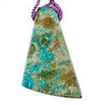 Shattuckite Gemstone - Freeform Pendant 27mm x 50mm - Pkg of 1
