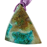 Shattuckite Gemstone - Triangle Pendant 31mm x 43mm - Pkg of 1