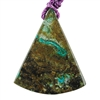 Shattuckite Gemstone - Rounded Triangle Pendant 41mm x 50mm - Pkg of 1