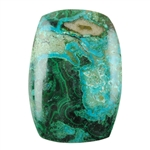 Natural Shattuckite Gemstone - Cabochon Barrel 25mm x 36mm Pkg - 1