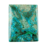 Natural Shattuckite Gemstone - Cabochon Rectangle 29mm x 36mm Pkg - 1