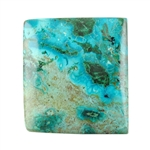 Natural Shattuckite Gemstone - Cabochon Rectangle 23mm x 26mm Pkg - 1
