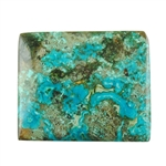 Natural Shattuckite Gemstone - Cabochon Rectangle 23mm x 28mm Pkg - 1