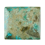 Natural Shattuckite Gemstone - Cabochon Rectangle 25mm x 28mm Pkg - 1