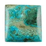 Natural Shattuckite Gemstone - Cabochon Rectangle 23mm x 24mm Pkg - 1