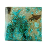 Natural Shattuckite Gemstone - Cabochon Rectangle 30mm x 33mm Pkg - 1