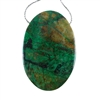 Natural Chrysocolla Gemstone - Oval Pendant 35mm x 52mm - Pak of 1