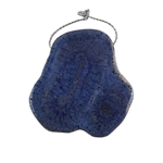 Natural Blue Coral Gemstone - Freeform Pendant 49x50mm