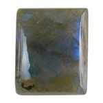 Natural Labradorite Gemstone - Cabochon Rectangle 16mm x 19mm