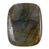 Natural Labradorite Gemstone - Cabochon Rectangle 18mm x 22mm Pkg - 1