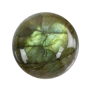 Natural Labradorite Gemstone - Cabochon Round 8mm Pkg - 1