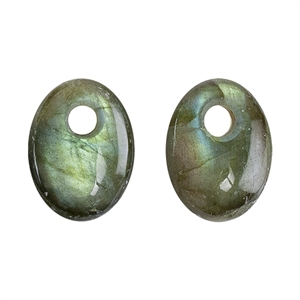 Natural Labradorite Gemstone - Cabochon Trillion 20mm Pkg - 1